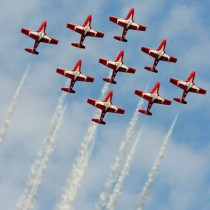 Snowbirds Performing in Comox Valley